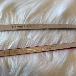 Express Accessories - Express Skinny Bow Belt Bundle